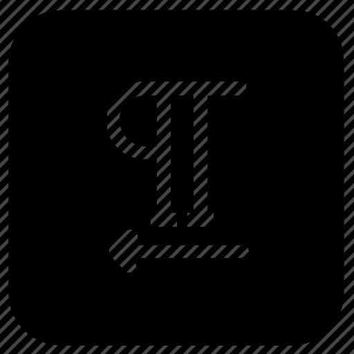 left, move, paragraph icon