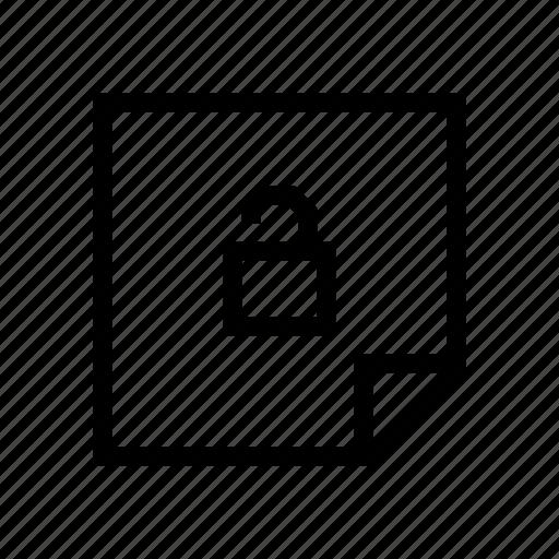 design, graphic, layer, lock, note, unlock icon