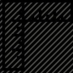 alignment, angle, design, editor, measurement, right, ruler icon