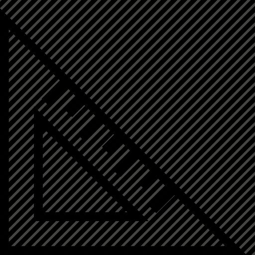 design, editor, math, measurement, ruler, school, triangle icon