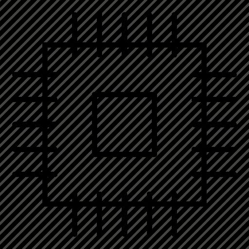chip, computer, computer chip, computer hardware, microprocessor, processor, technology icon