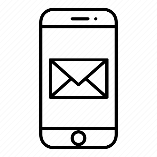 cellphone, email, envelope, mail, message, smartphone, technology icon