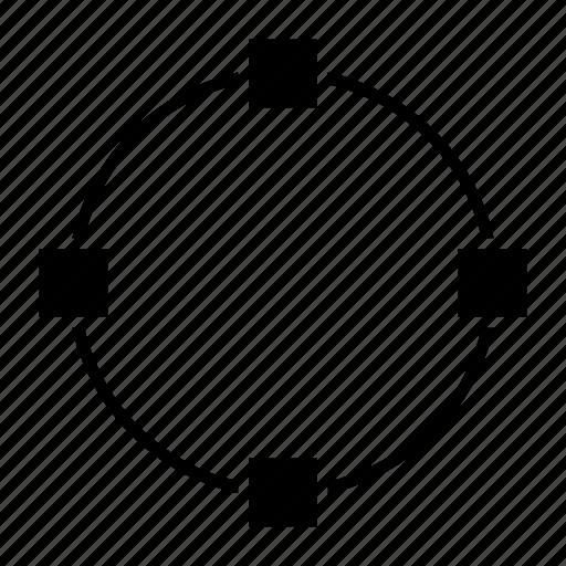 circle, circles, design, path, vector path icon