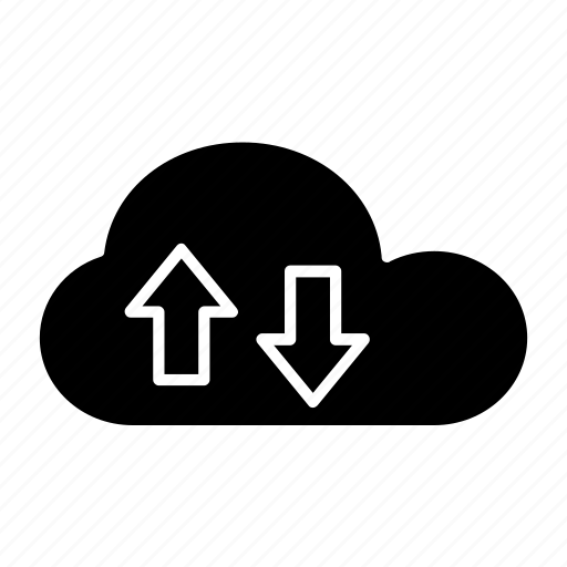 cloud, cloud computing, cloud storage, data storage, download, downloading, tools and utensils icon