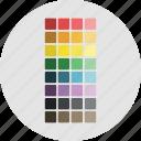 design, pantone, swatches, tool icon