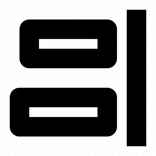align, design, horizontal, right icon