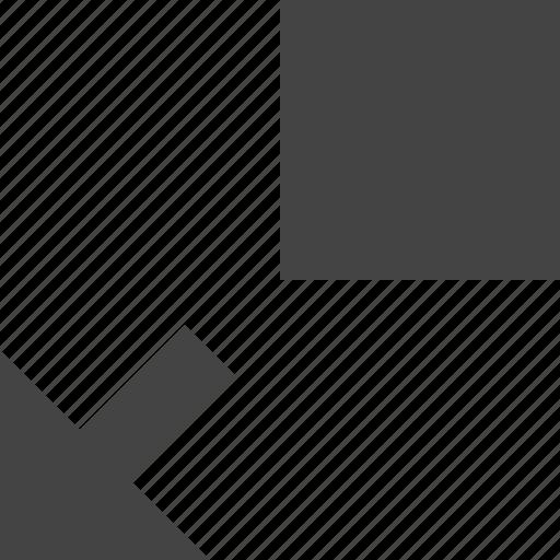 bottom, design, graphic, interface, left, move, to icon