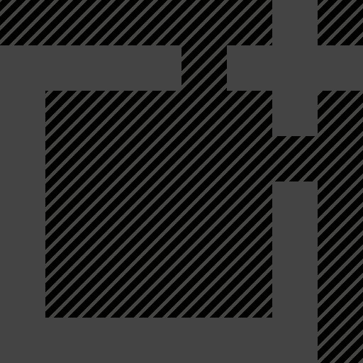 add, design, graphic, interface, rectangle icon