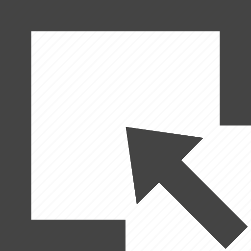 arrow, design, graphic, in, interface, rectangle icon