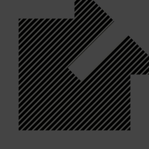 arrow, design, graphic, interface, right, square, top icon