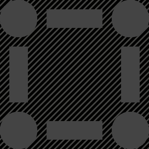 design, dot, four, graphic, interface, square icon