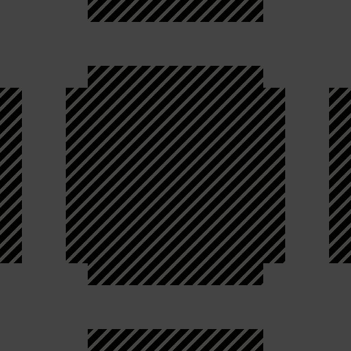 design, graphic, interface, point, square icon