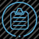 checklist, check list, clipboard, chart