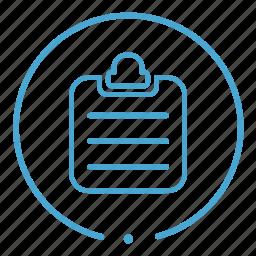 chart, check list, checklist, clipboard icon
