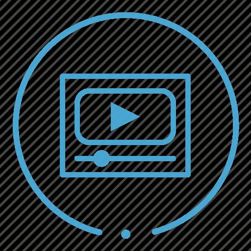 media, movies, player, video icon