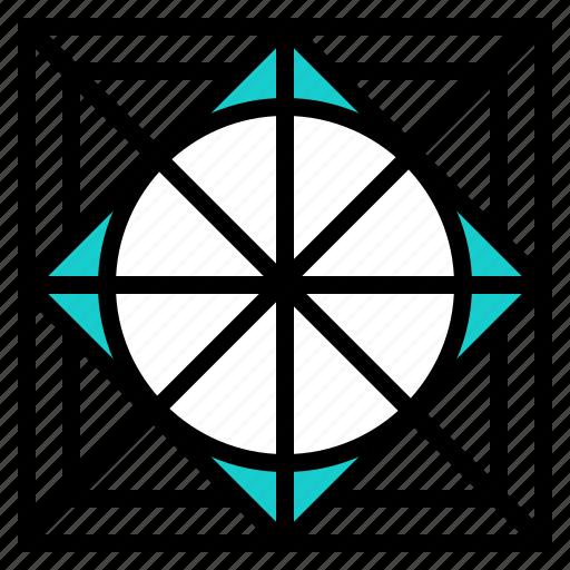guide, line, outline, program, tool icon