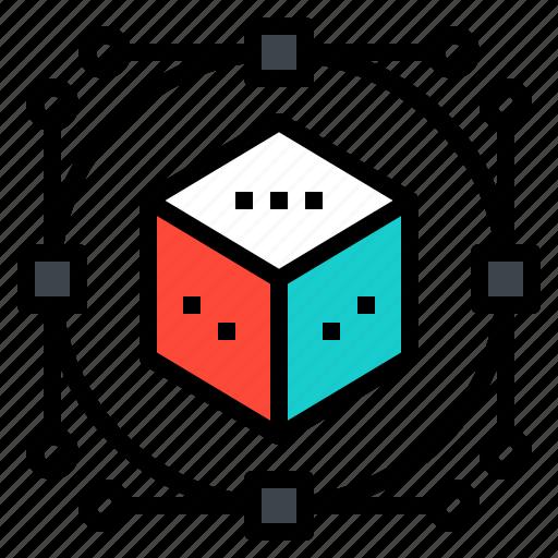 design, geometric, hexagon, logo, path icon