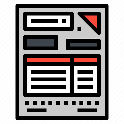 bill, communication, document, paper, quotation icon