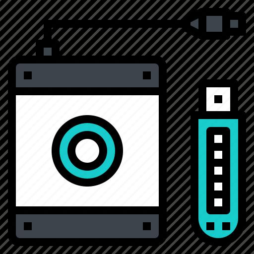 flashdrive, harddisk, memory, storage, usb icon