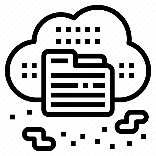 cloud, data, file, sky, storage icon