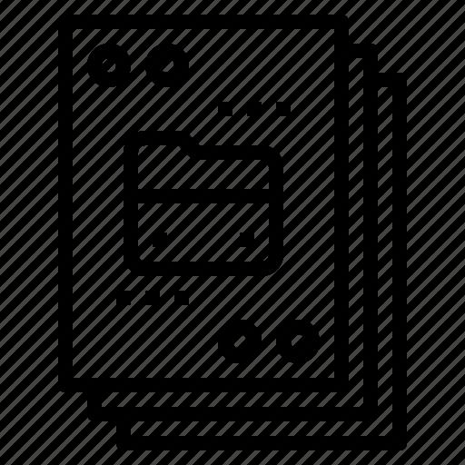 data, document, file, folder, paper icon
