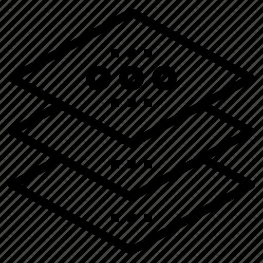 designer, layer, program, square, tool icon