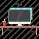 computer, desk, imac, mac icon