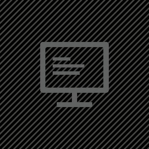 computer, desktop, hardware, monitor, technology icon
