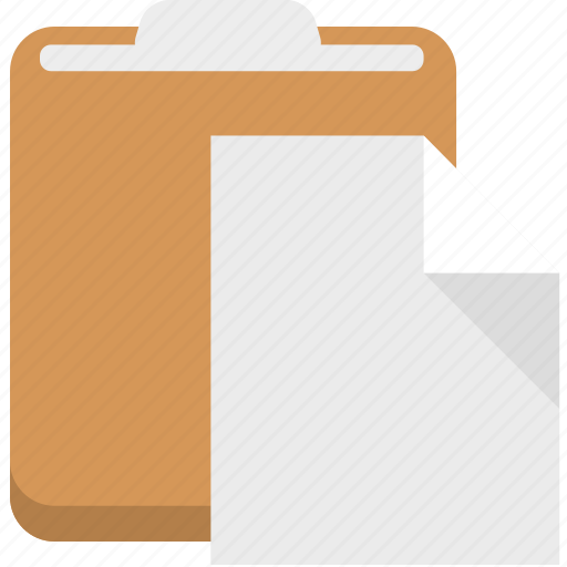 clipboard, document, paste, toolbar icon