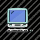 computer, desktop mac, imac, imac g4, office supply, pc, school supply icon