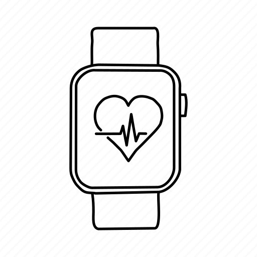 apple watch, apple watch health, devices, handdrawn, heart rate, mobile, screens icon