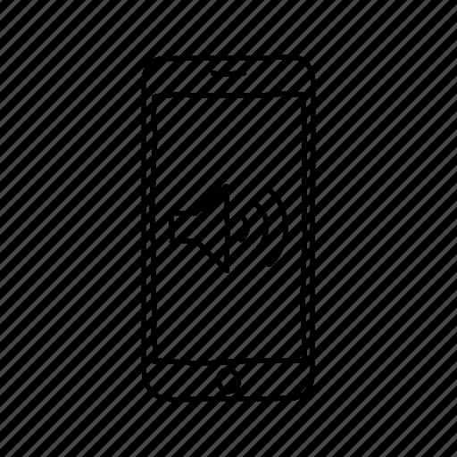 audio, devices, handdrawn, mobile, screens, smartphone, sound icon