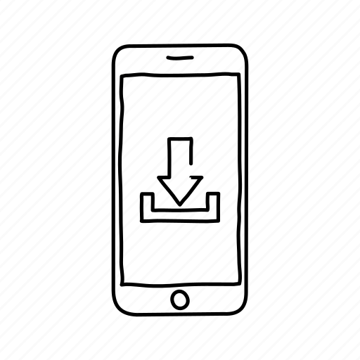 devices, download, handdrawn, iphone, mobile, screens, smartphone icon