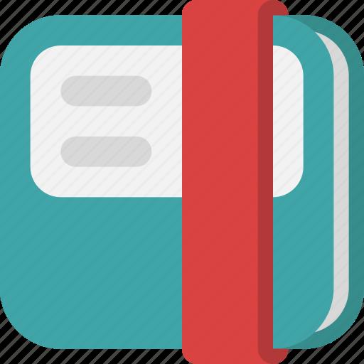address book, agenda, bookmark, interface, notebook, people, telephone book icon