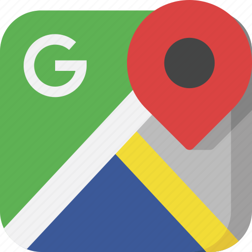 google, google maps, interface, location, map, pin, position icon