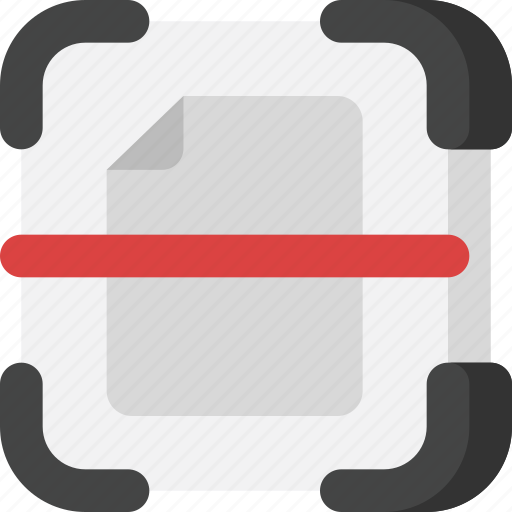 document, file, files, interface, multimedia, scan, scanner icon