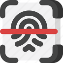 finger, fingerprint, identification, interface, scan, scanner, security icon