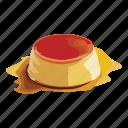 cake, caramel, custard, dessert, food, snack, sweet icon
