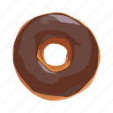bun, chocolate, dessert, doughnut, food, snack, sweet icon
