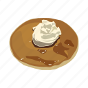 breakfast, crepe, dessert, food, pancake, snack, waffle icon