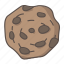 cookie, chocolate, chip, dessert, sweet, treat