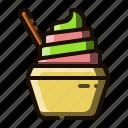 custard, dessert, frozen, food, ice cream
