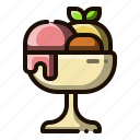 dessert, food, sorbet, ice cream, sweet food icon