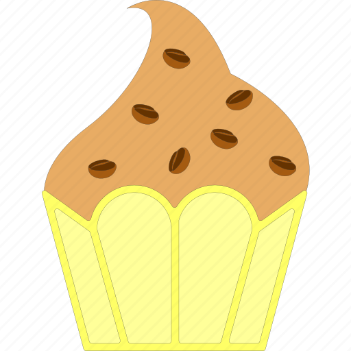 bakery, coffee flavor, cupcake, muffin icon