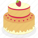 birthday, cake, celebration, decoration icon