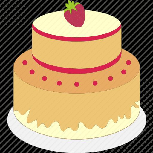 birthday, cake, celebration, decoration icon