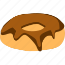 chocolate, cream, donut icon
