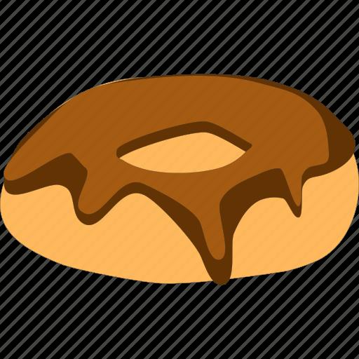chocolate, cream, donut icon