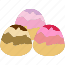 dessert, flavored, marzipan, toffee icon