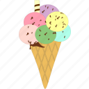 cone, ice cream, icecream, sweet icon